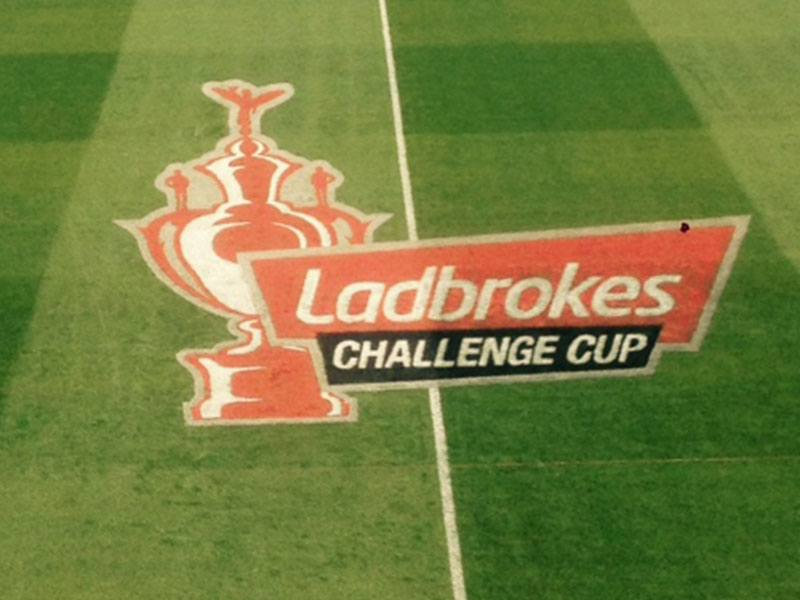 Ladbrokes Challenge Cup Semi Final Pitch Branding