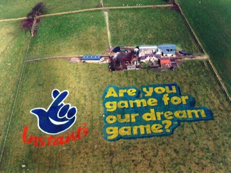 Lottery Logo in Field