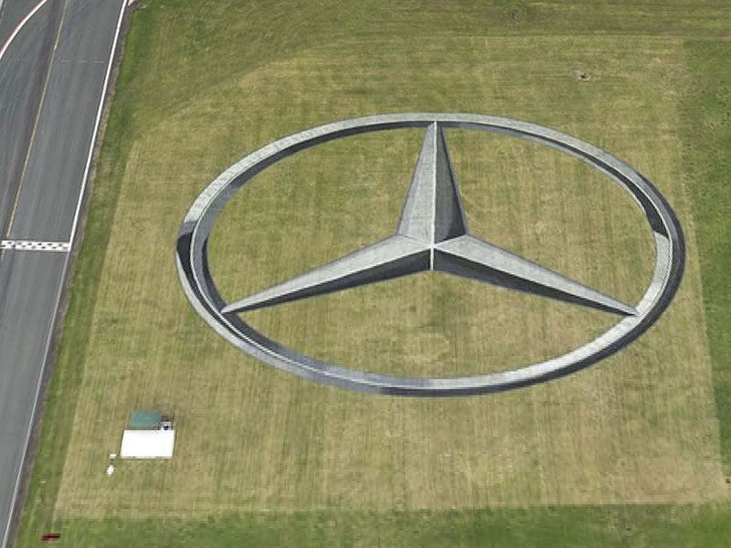 Mercedes Track Sign for BBC Top Gear